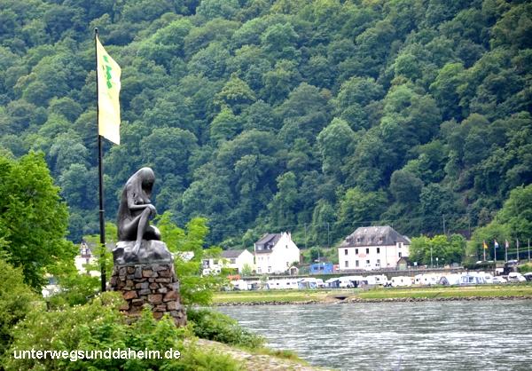unterwegsunddaheim.de Loreley-Felsen bei St. Goarshausen am Rhein