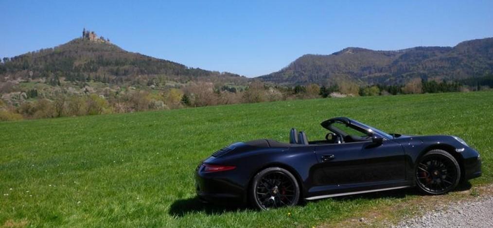 unterwegs mit dem Porsche
