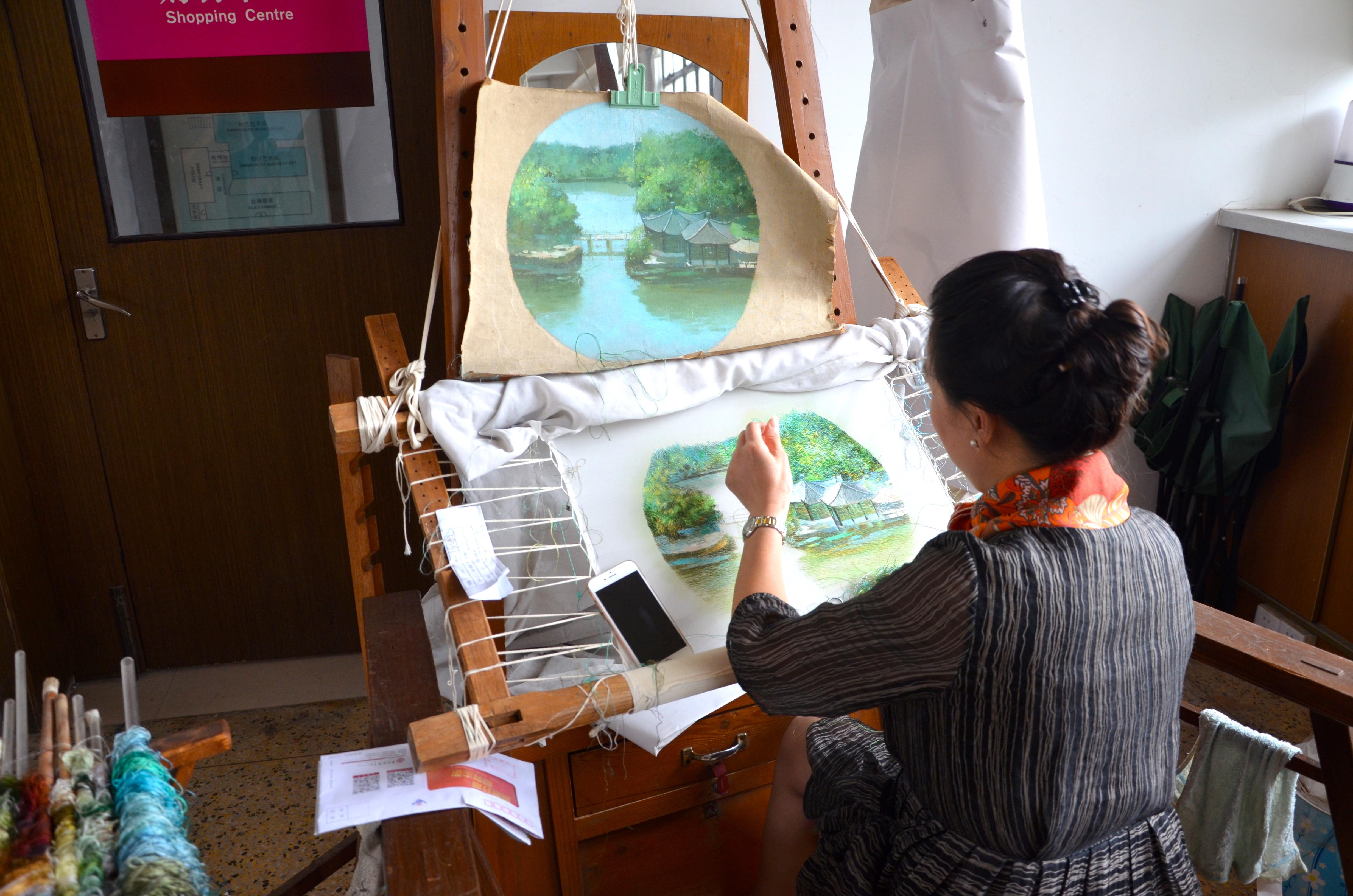 Seidenstickerei in Suzhou - unterwegs & daheim