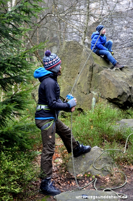 Klettern im Elbsandsteingebirge in Sachsen