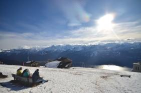 Auf dem Niederhorn mit Ausblick auf Eiger, Mönch und Jungfrau