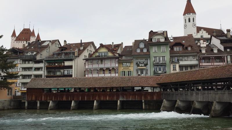 Altstadt von Thun am Thunersee im Berner Oberland