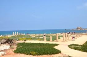 unterwegsunddaheim.de Mittelmeerküste in Israel - Caesarea