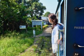 Zug fahren in Sri Lanka